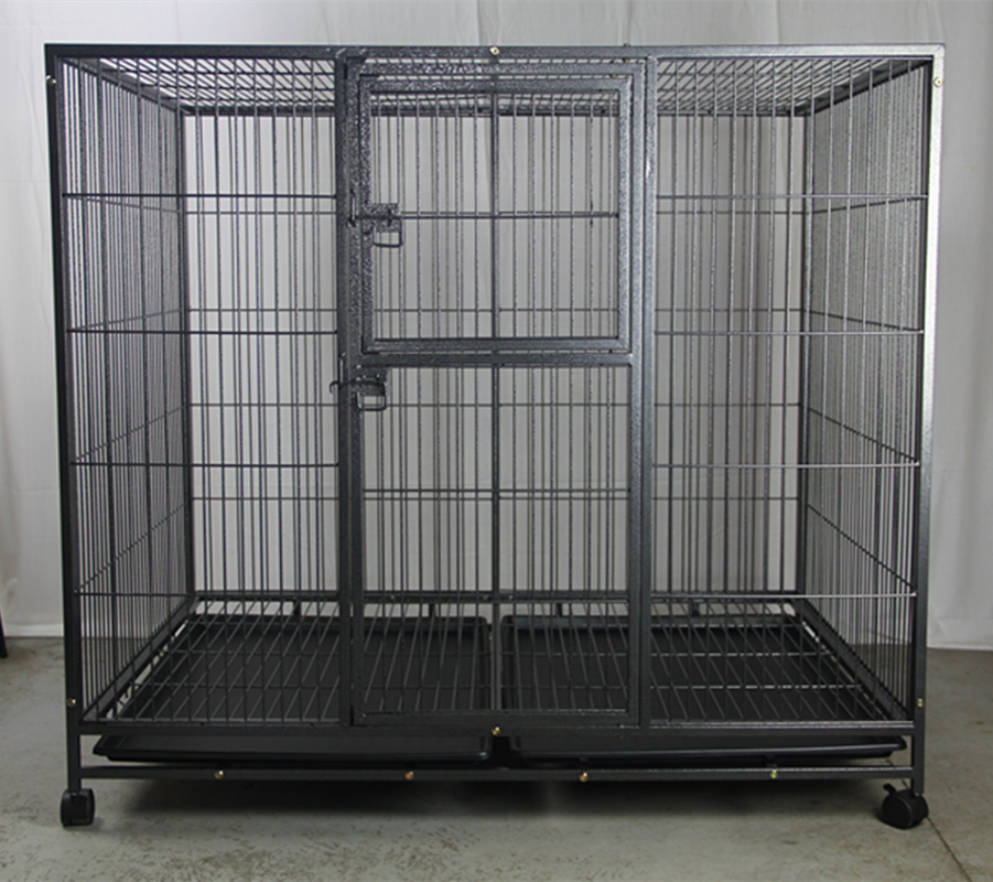 Xxl Pet Dog Cat Cage Metal Crate Kennel Portable Puppy Cat