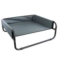 Grey / Black Small Walled Suspension Trampoline Hammock Bed 56 x 56 x 24 cm