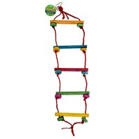 3 x Rope Ladder Swing Bird Budgie Canary Hamster Gerbil Mouse Rats Cage Ladders Toys