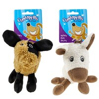 2 x Dog Puppy Play Animal Toy Plush Toy 16cm