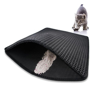 Double Layer Cat Litter Tray Trap Mat Catch Cat Litter House Box Pad Toilet Mat