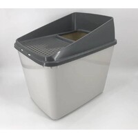 XL Top Entry Cat Litter Box All For Paws No Mess Large Enclosed Covered Kitty Tray