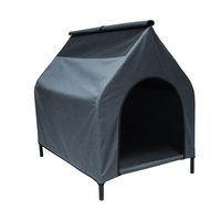 Grey L Waterproof Portable Flea and Mite Resistant Dog Kennel House Nest Outdoor Indoor