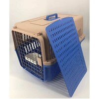 Large Dog Cat Crate Pet Carrier Rabbit Airline Cage With Tray And Bowl