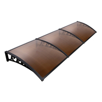 Instahut DIY Window Door Awning Shade 1 x 3m - Brown