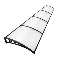 Instahut Window Door Awning Door Canopy Patio UV Sun Shield WHITE 1mx4m DIY