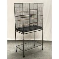 161 cm Bird Cage Parrot Aviary Pet Stand-alone Budgie Perch Castor Wheels