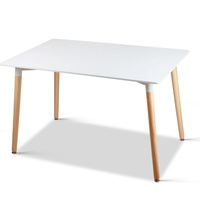 Artiss Dining Table 6 Seater Replica DSW Eiffel Cafe Kitchen White 120cm