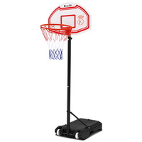 Everfit 2.1M Adjustable Portable Basketball Stand Hoop System Rim White