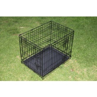 24' Collapsible Metal Dog Crate Puppy Cage Cat Carrier