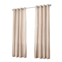 Art Queen 2 Panel 240 x 230cm Block Out Curtains - Latte