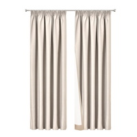Art Queen 2 Pencil Pleat 180x230cm Blockout Curtains - Sand