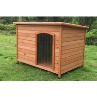 Large Timber Pet Dog Kennel House Puppy Wooden Timber Cabin With Stripe