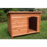 Large Timber Pet Dog Puppy Wooden Cabin  Kennel Timber House