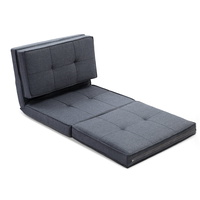 Artiss Lounge Sofa Bed Floor Couch Recliner Chaise Chair Futon Folding Grey