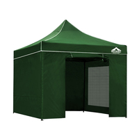 Instahut Gazebo Pop Up Marquee 3x3m Folding Wedding Tent Gazebos Shade Green