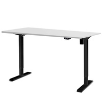 Electric Motorised Height Adjustable Standing Desk - Black Frame with 100cm White Top