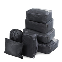 Wanderlite 7PCS Dark Grey Packing Cubes Travel Luggage Organiser Suitcase Storage Bag