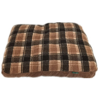 Medium Washable Soft Pet Dog Cat Bed Cushion Mattress-Brown