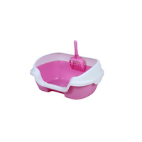 Small Portable Cat Toilet Litter Box Tray with Scoop