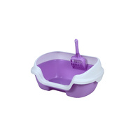 Small Portable Cat Kitten Rabbit Toilet Litter Box Tray with Scoop