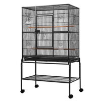 Large Bird Cage Parrot Budgie Aviary With Stand and Perch