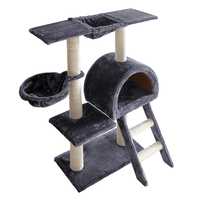 100cm Multi Level Cat Scratching Post - Grey