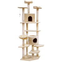 203cm Pet Cat Tree Trees Scratching Post Scratcher Tower Condo House Furniture