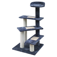 100cm Multi Level Cat Scratching Tree Cat Tree Trees Scratching Post Scratcher Tower Condo - Grey