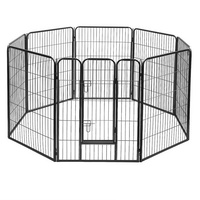 8 Panel Pet Dog Playpen Puppy Cage Exercise Enclosure Fence Play Pen 80x100cm