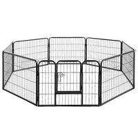 8 Panel Pet Dog Playpen Puppy Exercise Cage Enclosure Fence Play Pen 80x60cm