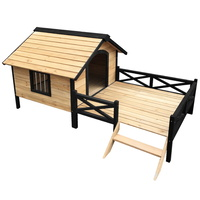 Dog Kennel Kennels Outdoor Wooden Pet House Puppy Extra Large XXL Outside