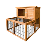 Double Storey Wooden Rabbit Bunny Hutch Guinea Pig House Run