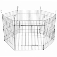 24' 6 Panel Pet Playpen Fold Exercise Cage Fence Enclosure