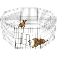 24' Dog Rabbit Playpen Exercise Puppy Enclosure Fence