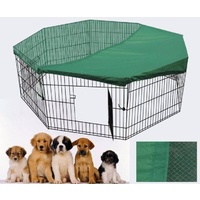36' Dog Rabbit Playpen Exercise Puppy Cat Enclosure Fence With Cover