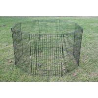 42' Dog Rabbit Playpen Exercise Puppy Enclosure Fence