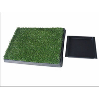 Indoor Dog Puppy Toilet Grass Potty Training Mat Loo Pad pad with 1 grass