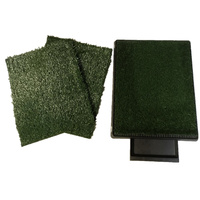 Indoor Dog Toilet Grass Potty Training Mat Loo Pad pad with 3 grass