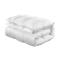 Giselle Bedding Goose Down Feather Quilt Cover Duvet 800GSM Winter Doona White King