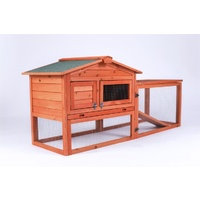 Rabbit Hutch Metal Run Wooden Cage Guinea Pig Cage House