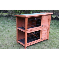 Double Storey Rabbit Hutch Guinea Pig Cage Ferret Cage With Pull Out tray