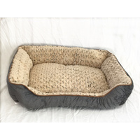 Medium Washable Soft Pet Dog Cat Bed Cushion Mattress-Grey