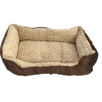 Small Washable Soft Pet Dog Cat Bed Cushion Mattress-Brown