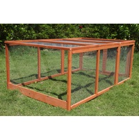 Large Chicken Coop Run Guinea Pig Cage Villa Extension Rabbit Hutch House Pen