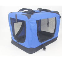 XXXL Portable Foldable Pet Dog Cat Puppy Soft Crate-Blue
