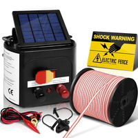 5km Solar Electric Fence Energiser Energizer Battery Charger Cattle Horse
