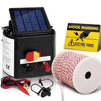 3km Solar Powered Electric Fence Energiser Battery Energizer Charger Tape