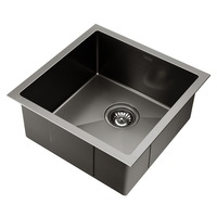 Cefito 440 x 440mm Stainless Steel Sink - Black