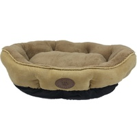 Washable Beige Fleece Dog Cat Bed-Small